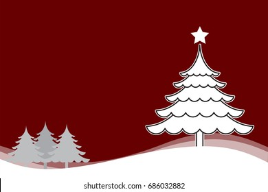 Christmas background with Christmas tree white vector for background illustration