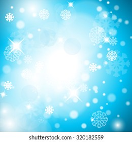 Christmas Background - Vector Illustration, Graphic Design Useful For Your Design