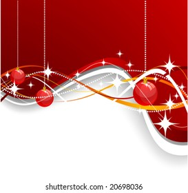 Christmas background. Vector. Used mesh.