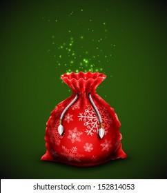 Christmas bag with gifts. Eps 10