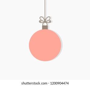 Christmas ball hanging ornament. Vector illustration background