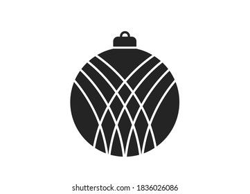 Christmas ball icon. Christmas and New Year design element in simple style - Shutterstock ID 1836026086