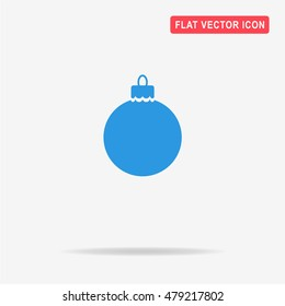 Christmas ball icon. Vector concept illustration for design.