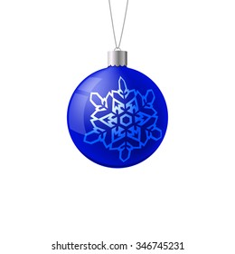 Christmas ball. New Year concept. Vector Illustration