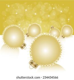 Christmas ball on abstract light background. Vector