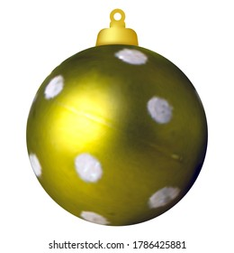 Christmas ball on the tree. Christmas decoration. Vector image on white background isolated