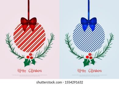 Christmas Balls. Minimalist Creative Design Concept Background