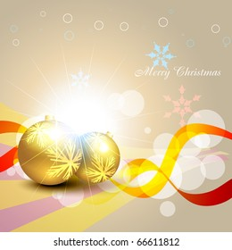 christmas balls on artistic background