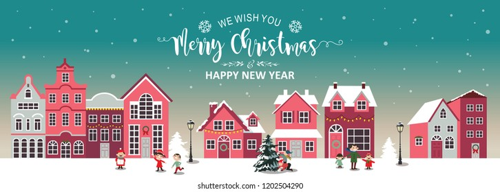Christmas banner holiday concept vector illustration
