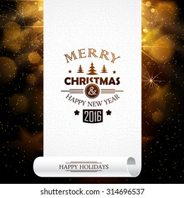 Christmas banner on abstract background. Vector illustration