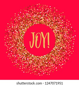 Christmas banner warm wishes. Background and glitter.