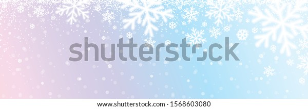 christmas-banner-white-blurred-snowflake