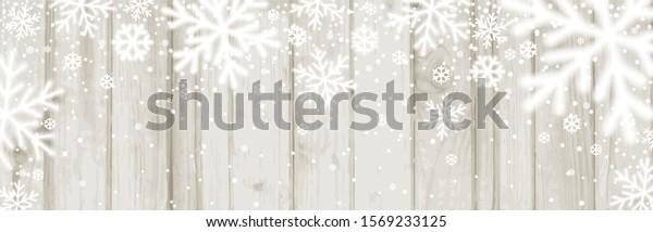 christmas-banner-white-blurred-snowflake