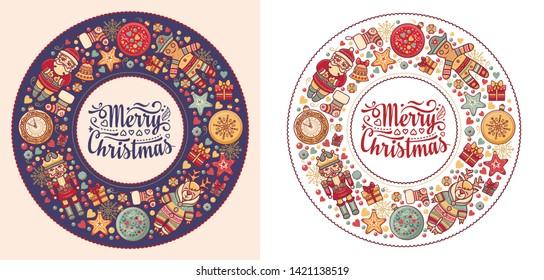 Christmas banner. Xmas Background design shristmas greeting card. Merry Chrismas Happy Holyday. Holyday  poster, greeting cards, website. Vintage xmas card