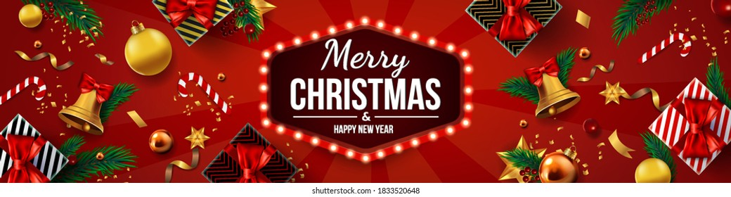 Christmas Banner Images Stock Photos Vectors Shutterstock Choose from 5 holiday designs or get all for more holiday cheer! https www shutterstock com image vector christmas banner xmas sparkling lights garland 1833520648
