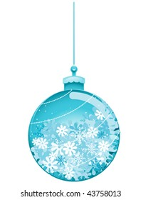 Christmas Bauble with snowflakes inside - Vector