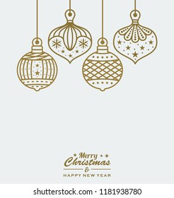 christmas baubles design vector illustration