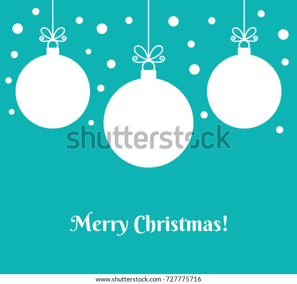 Christmas baubles ornaments on blue background. Vector illustration