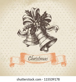Christmas bell. Hand drawn illustration