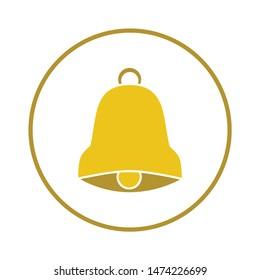 christmas bell icon. flat illustration of christmas bell vector icon. christmas bell sign symbol
