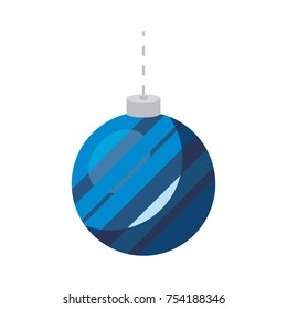 christmas bell icon over white background colorful design vector illustration