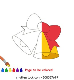 Christmas Bells To Be Colored The Coloring Book Educate Preschool Kids With Easy Kid