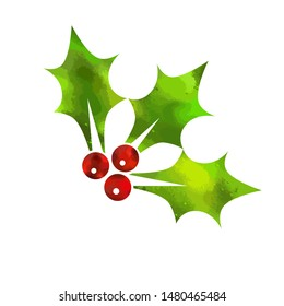 Christmas berries. Merry Christmas. Vector illustration