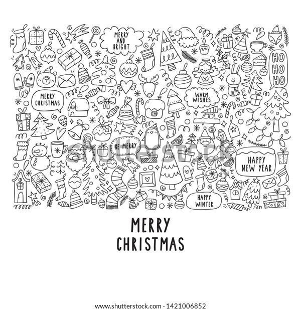 christmas big coloring poster doodle 600w