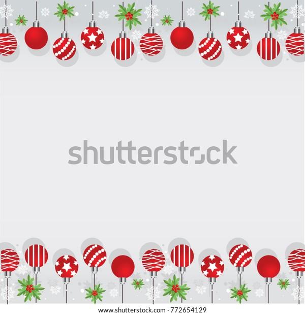 Christmas Border Design.Christmas Border Design Set Stock Vector Royalty Free