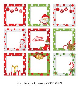 Christmas border&frame picture design set.