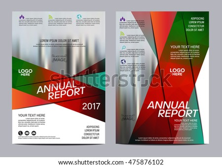christmas brochure layout design template annual stock vector