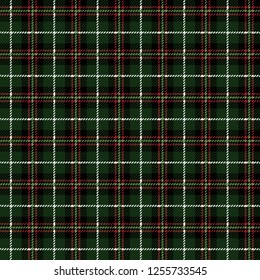 Christmas Buffalo Plaid Seamless Pattern - Classic buffalo style plaid design in red, green, black, and white