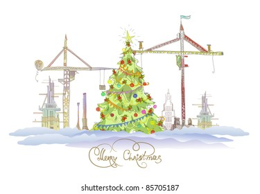 Christmas at the building site
