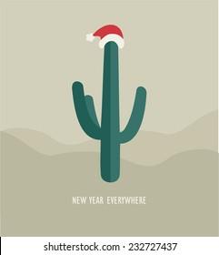 Christmas cactus in the desert