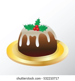 Christmas cake vector illustration