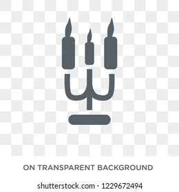 christmas candelabra icon. christmas candelabra design concept from Christmas collection. Simple element vector illustration on transparent background.