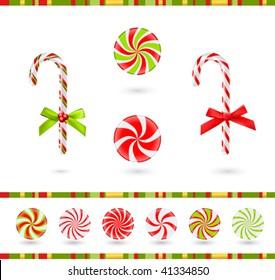 christmas candies set (vector)