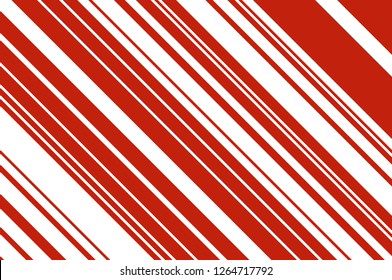 Christmas candle, lollipop pattern. Striped diagonal background with slanted lines. Stripy backdrop for print on wrapping, wallpepar, banners, sites