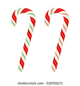 Christmas candy canes, vector design