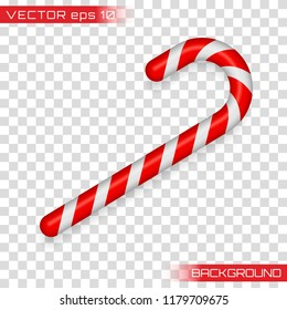 Christmas cane, christmas candy, christmas stick, red candy. Candy cane isolated on white.