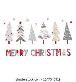 Christmas card with Decoration Christmas tree