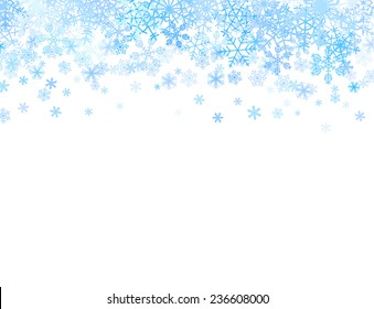 Christmas card with different snowflakes on top.