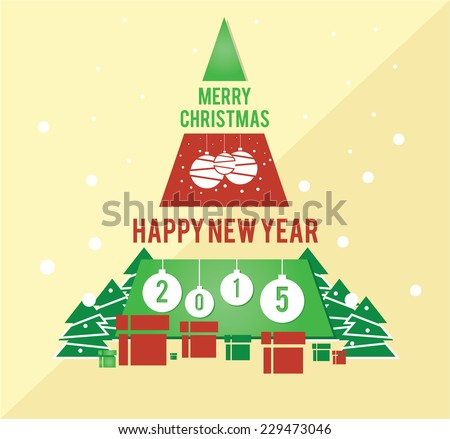 Christmas card family friends business management stock vector christmas card for family or friends or business management merry christmas and happy new year m4hsunfo