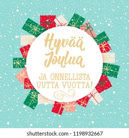 Finland lettering images stock photos vectors shutterstock christmas card finnish text merry christmas happy new year lettering vector m4hsunfo