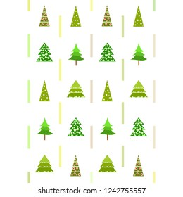 Christmas card, fir tree, vector background