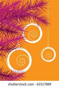 Christmas card flat illustration