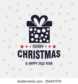 Christmas card and gift box decoration background