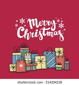 Christmas card with gifts