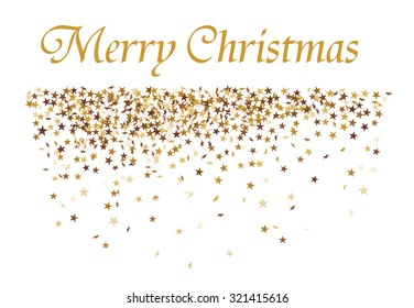 christmas card with golden stars