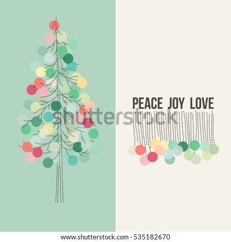 christmas card greetings peace joy love stock vector royalty free